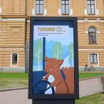 Animaatio Oulun bussipysäkeille