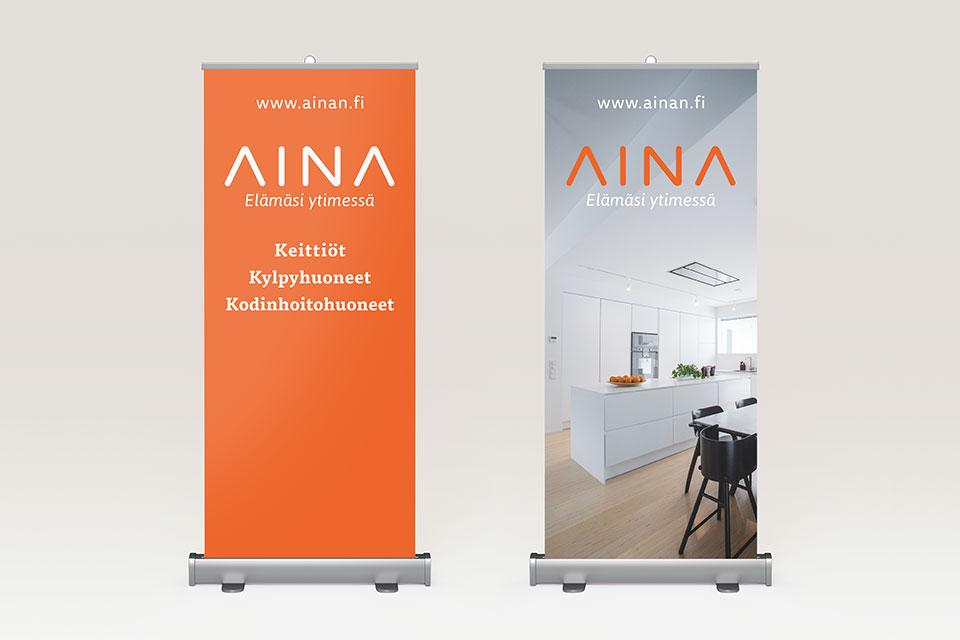 Visuaalinen ilme, logo, printti, web, valokuvaus, kuvankäsittely, sisällöntuotanto & sosiaalinen media Ainalle - Mainostoimisto IOStudio | Studio Ilpo Okkonen