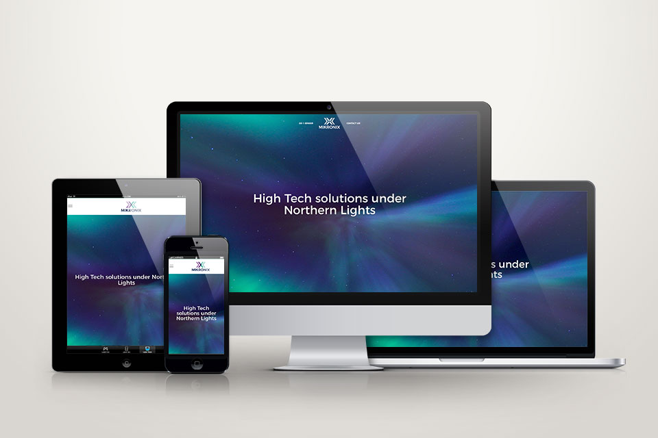 Visuaalinen ilme, logo, printti, web Mikronix Oy:lle - Mainostoimisto IOStudio | Studio Ilpo Okkonen