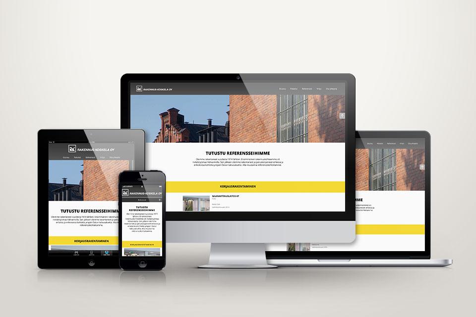 Web, valokuvaus & kuvankäsittely Rakennus Koskela Oy:lle - Mainostoimisto IOStudio | Studio Ilpo Okkonen