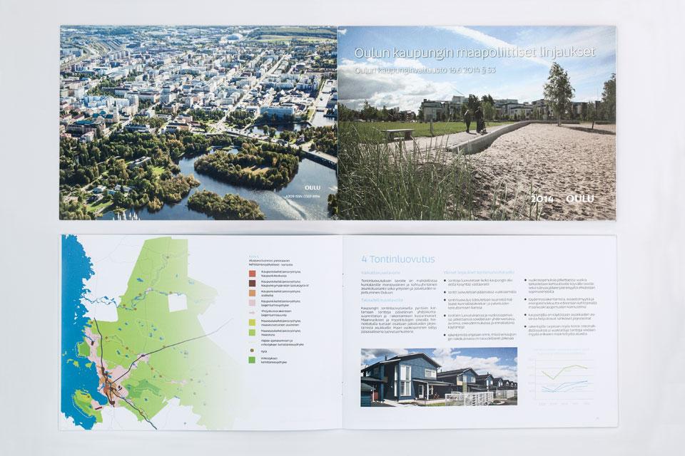 Printti, informaatiografiikka &  kuvankäsittely Maapoliittiseen ohjelmaan - Mainostoimisto IOStudio | Studio Ilpo Okkonen